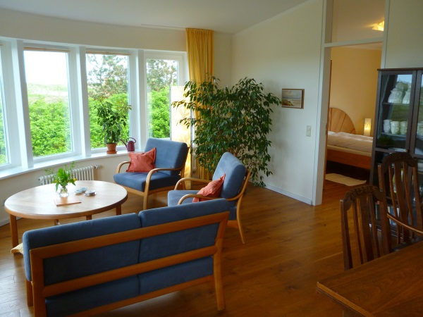 Wohnzimmer der Ferienwohnung